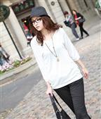 白色带帽女装长袖卫衣