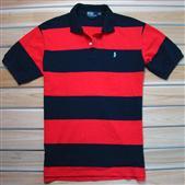 红黑条纹男士休闲T恤